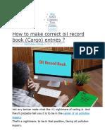Oil Record Book Cum Se Completeaza Corect 15.10.2018
