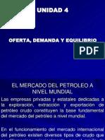 OFERTA, DEMANDA Y EQUILIBRIO ''EL MERCADO DE PETROLEO A NIVEL MUNDIAL''