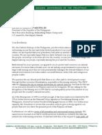 Bishop Odchimar's Letter Pres.aquino (5 Point-Agenda Mining)