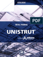 Unistrut Metal Framing Catalogue