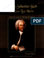 The Solo Lute Works of JS Bach Edited by Frank Koonce - Second Edition