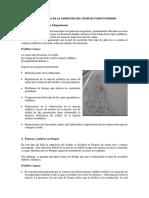 Tipos de Falla en La Carretera Del Cruze de Puerto Pizarro