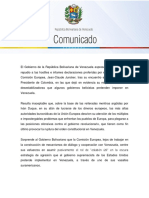 Gobierno Venezolano Rechaza Declaraciones Hostiles e Injerencistas de Jean Claude Juncker
