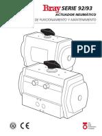Manual de Operacion y Mantenimiento Actuador Neumatico Bray S92 93
