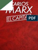 Karl Marx El Capital Tomo I