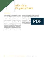 Planificación de la producción gastronómica