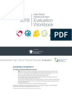 EdTA Theatre Educator Evaluation Workbook