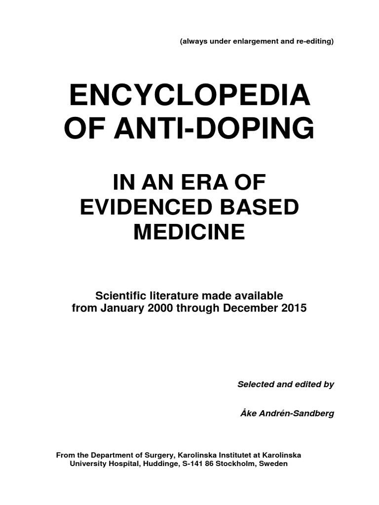 encyclopedia-of-anti-doping-2000-2015 pdf | Mass