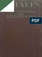 I. V. Stalin Cuestiones Del Leninismo