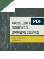 Analisis Cualitativo Compuestos Organicos