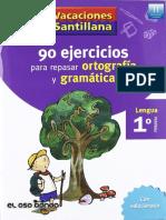 90 Ejercicios para Repasar Ortografía y Gramática 1ro Primaria - JPR504.pdf