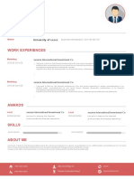 (Resume Suit) Creative Resume With Self-recommendation 11