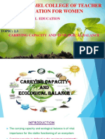 Carrying capacity and Ecological balance