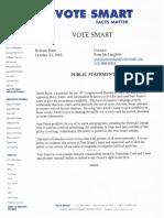Vote Smart Dave Joyce letter