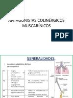 ANTAGONISTAS COLINÉRGICOS MUSCARÍNICOS