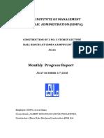 October Progress Report