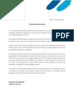 25.10.2018 - CP - M. SCHELLENBERGER - Annulation Du Décret de Fermeture ...