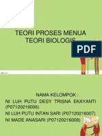 3. Teori Biologis Proses Penuaan 1