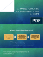 Estimating Population Size and Distribution in a Habitat