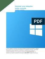 Reiniciar Windows Desde Consola Cmd