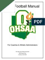 Ohsaa 2018 Football Manual