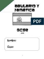 GCSE Spanish A4 Vocab Book