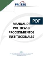 Manual de Politicas y Procedimientos Institucionales