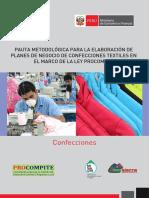 295df2870 Pauta Planes de Negocio Confecciones Textiles