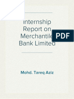 Internship Report on Merchantile Bank Limited