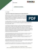 16-10-2018 Logra Sonora Certificación de Denominación de Origen del Bacanora