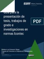 Guia Presentacion Tesis Trabajos de Grado e Investigaciones Normas Icontec 2018