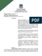 Ação Cobrança - Prescrição, Carência, Justiça Trabalho, Ilegitimidade, Sal Dez 2008 e Dez 2012, Férias, 13º Salário - Nulidade - Conceição - 2014 - Autor