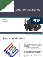 Tema2. Ética y La Toma de Decisiones