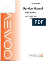 Service Manual Auto Washer DWF-650, DWF-6521p