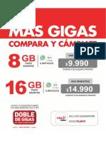 8 Y 16 GB