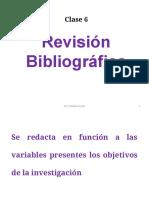 Clase 6. Revisión Bibliografica