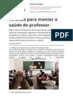 10 Dicas Para Manter a Saude Do Professorpdf