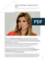 08-10-2018 - Llama Claudia Pavlovich Al Congreso a Agilizar Proceso Para Nombrar a Fiscal - Elimparcial