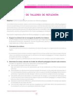 II. Desarrollo de Talleres de Reflexión Pedagógica