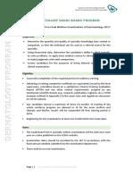 DERMATOLOGY - Final Written Exam Blueprint - 2017