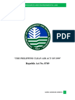 Clean Air Act of 1999 and Solid Waste Management Act of 2000 Copy
