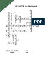 Crucigrama de Conceptos Básicos Contables (Resuelto)