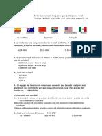 EXAMEN DE DIAGNOSTICO 6° MATEMATICAS