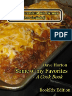 Dave Horton Some of My Favorites a Cook Book