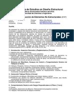 DDE Sílabo 12h Curso2 Elem No Estructurales 2017