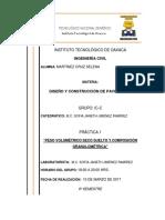 PESO VOLUMÉTRICO SECO SUELTO Y COMPOSICIÓN GRANULOMÉTRICA