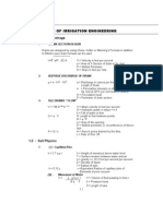 Irrigation Engineering Formulae