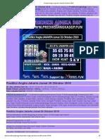 Prediksi Akurat Angka Jakarta Jumat 26 Oktober 2018