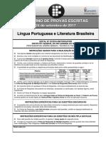 Funcern 2017 if Rn Professor Lingua Portuguesa e Literatura Brasileira Prova