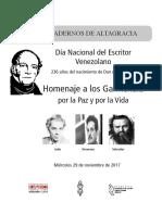 Cuadernos de Altagracia. Homenaje a los Hermanos Garmendia